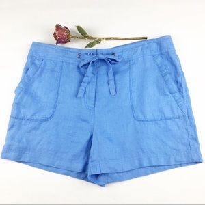 Women's Sigrid Olsen Blue Linen Shorts